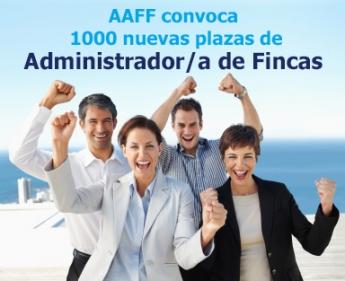 AAFF convoca 1000 nuevas plazas de Administradores de Fincas