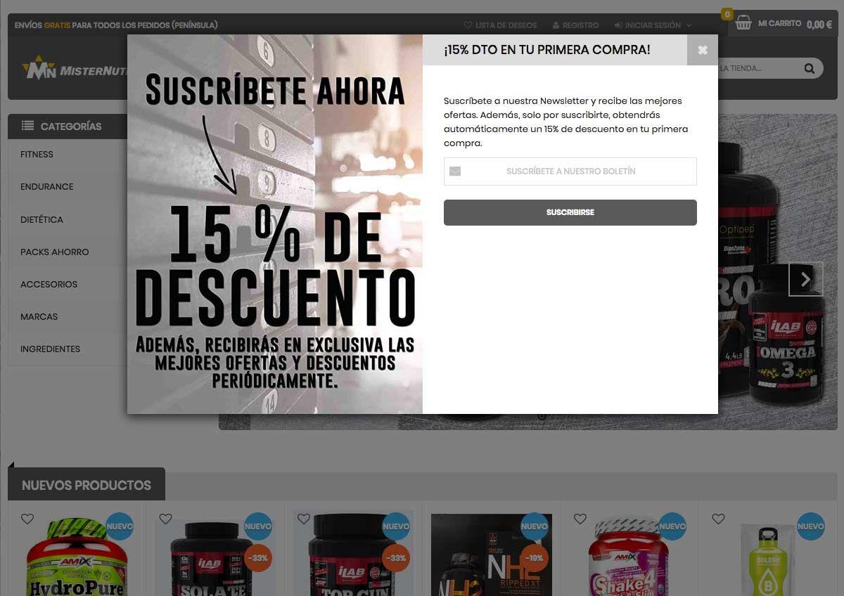 Foto de Nueva web misternutricion.com