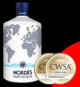 Nordés consigue una doble medalla de oro en los prestigiosos China Wines and Spirits Awards
