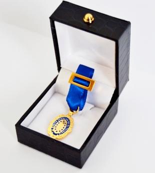 Foto de Medalla Europea y Diploma al Mérito en el Trabajo entrega a