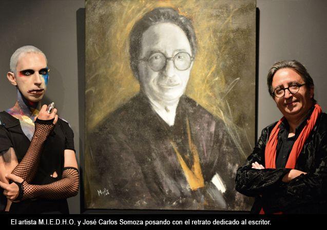 Foto de Artista Iván MIEDHO y el escritor José Carlos Somoza