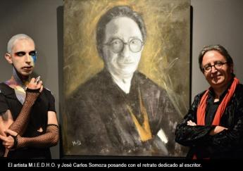 Artista Iván MIEDHO y el escritor José Carlos Somoza