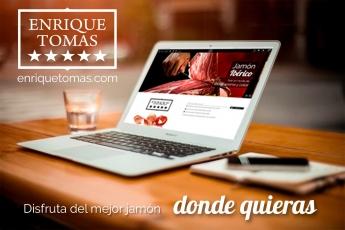 Enrique Tomás, empresa líder en la venta de jamón ibérico estrena web