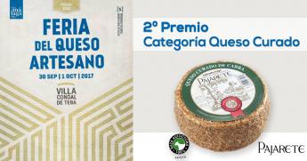 Queso de cabra curado Pajarete, premiado en la Feria del Queso Artesano Teba