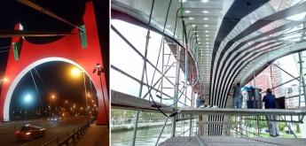 Los Arcos Rojos del Museo Guggenheim cumplen 10 años en octubre