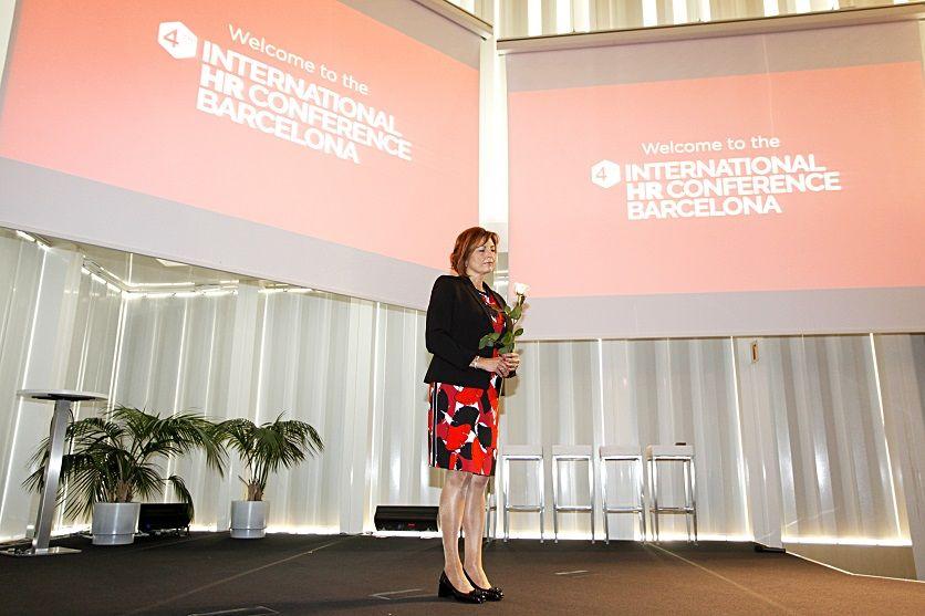 Foto de Sylvia Taudien, durante la International HR Conference BCN