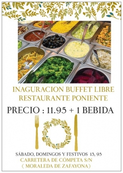 Restaurante Arrocería Poniente en Granada presenta su nuevo bufet libre