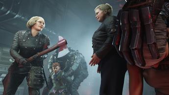 Foto de Frau Engel en uno de los fotogramas del videojuego