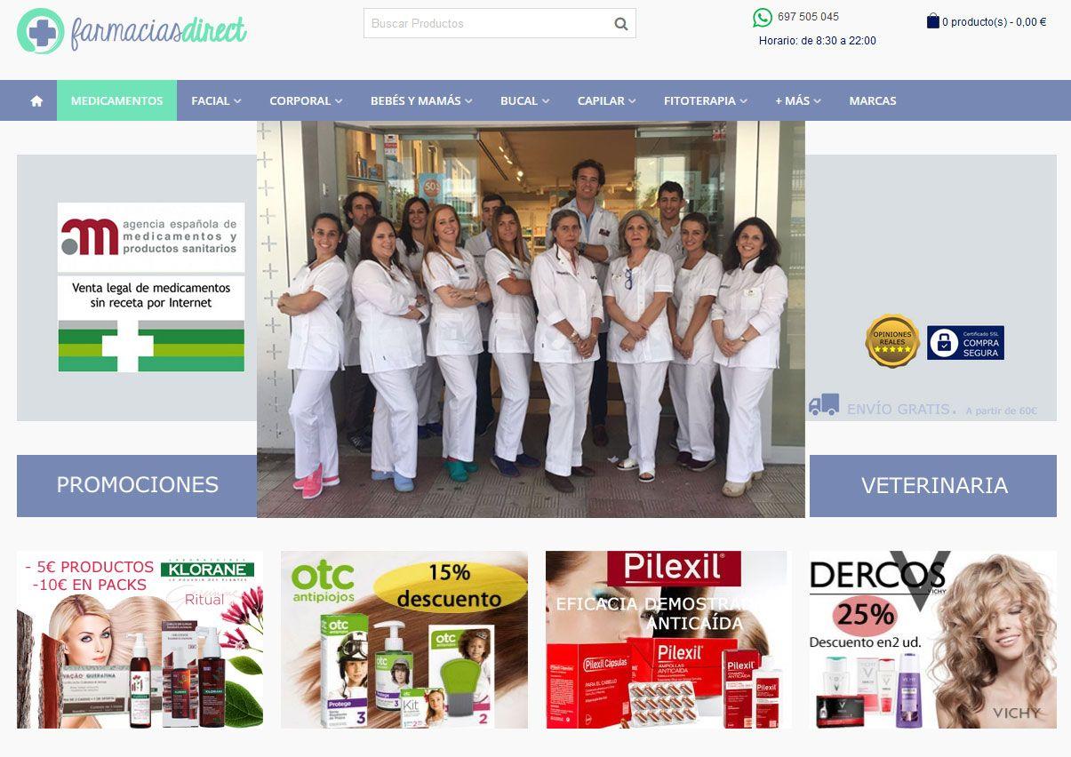Foto de Portal farmaciasdirect.com, equipo de farmacia online