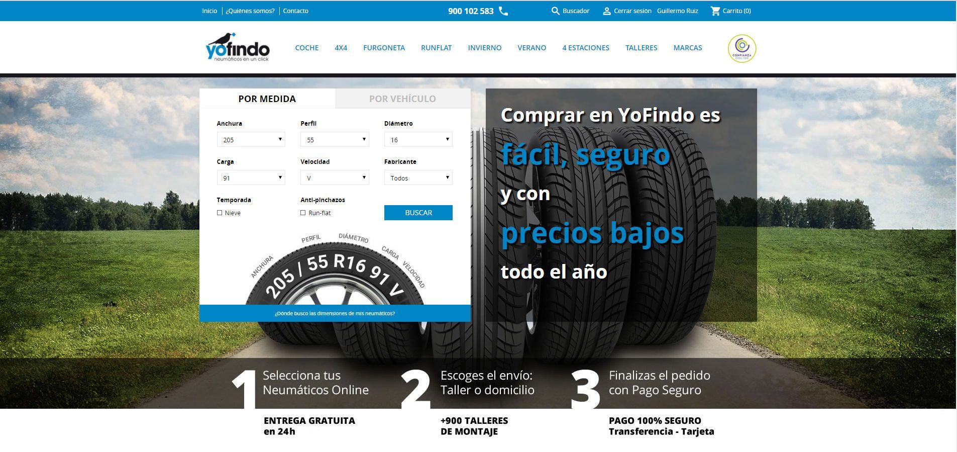 Foto de Web de Yofindo