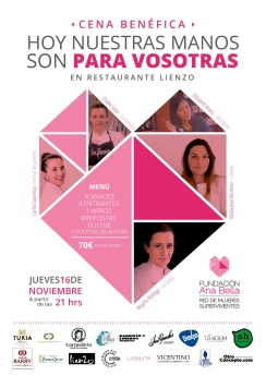 Mª José Martínez, Begoña Rodrigo, Carito Lourenço y Chabe Soler se unen contra la violencia de género