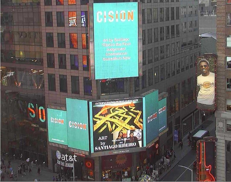 Foto de Exposición de Santiago de Ribeiro en Times Square, Nueva York