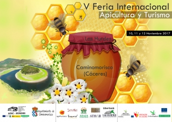 Cartel V Feria Internacional de Apicultura y Turismo de Las Hurdes
