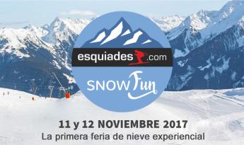 Esquiades Snow Fun, la primera feria de nieve experiencial de Europa. 11 y 12 de noviembre en Reus.