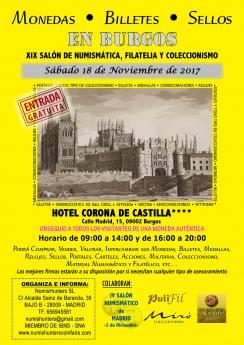 Foto de Cartel del Salón de Numismática, Filatelia y Coleccionismo