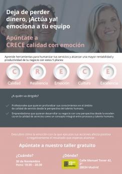 Ana María Pittaluga impartirá el curso CRECE-Calidad con emoción