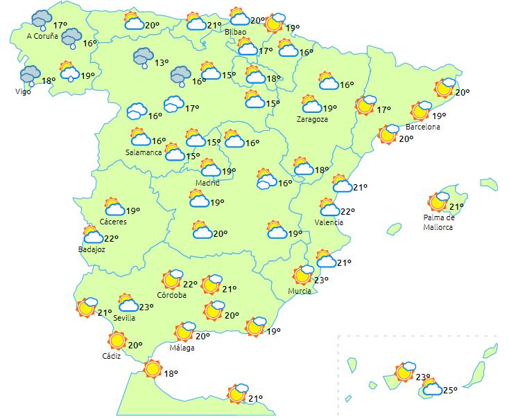 Mapa Del Tiempo España Fin De Semana.Una Borrasca Se Aproxima A Gran Parte De La Peninsula