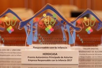 Herdicasa, premiada por su compromiso con la Infancia