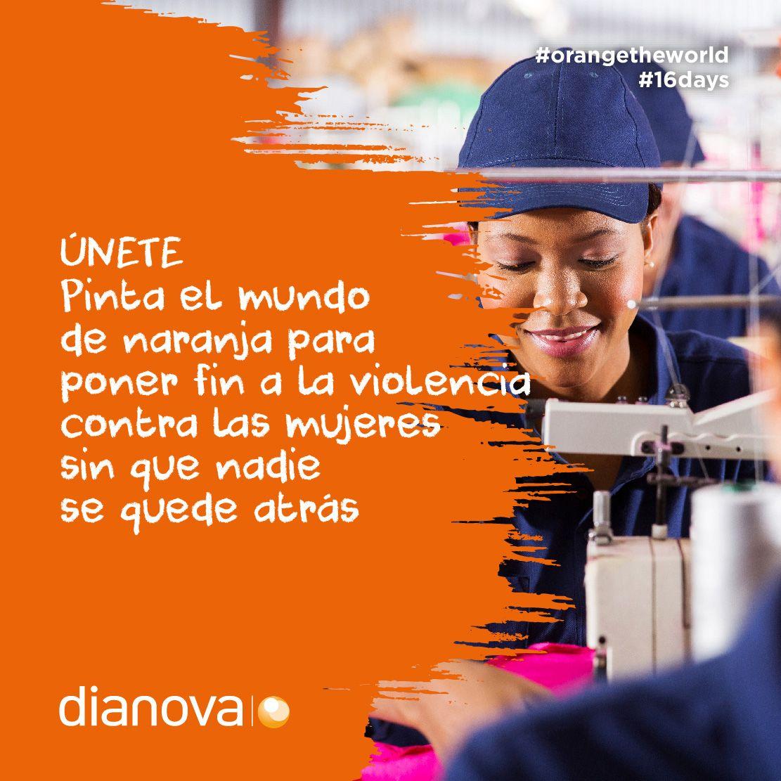 Dianova insta a la sociedad a ''pintar el mundo de naranja'' para eliminar la violencia hacia la mujer
