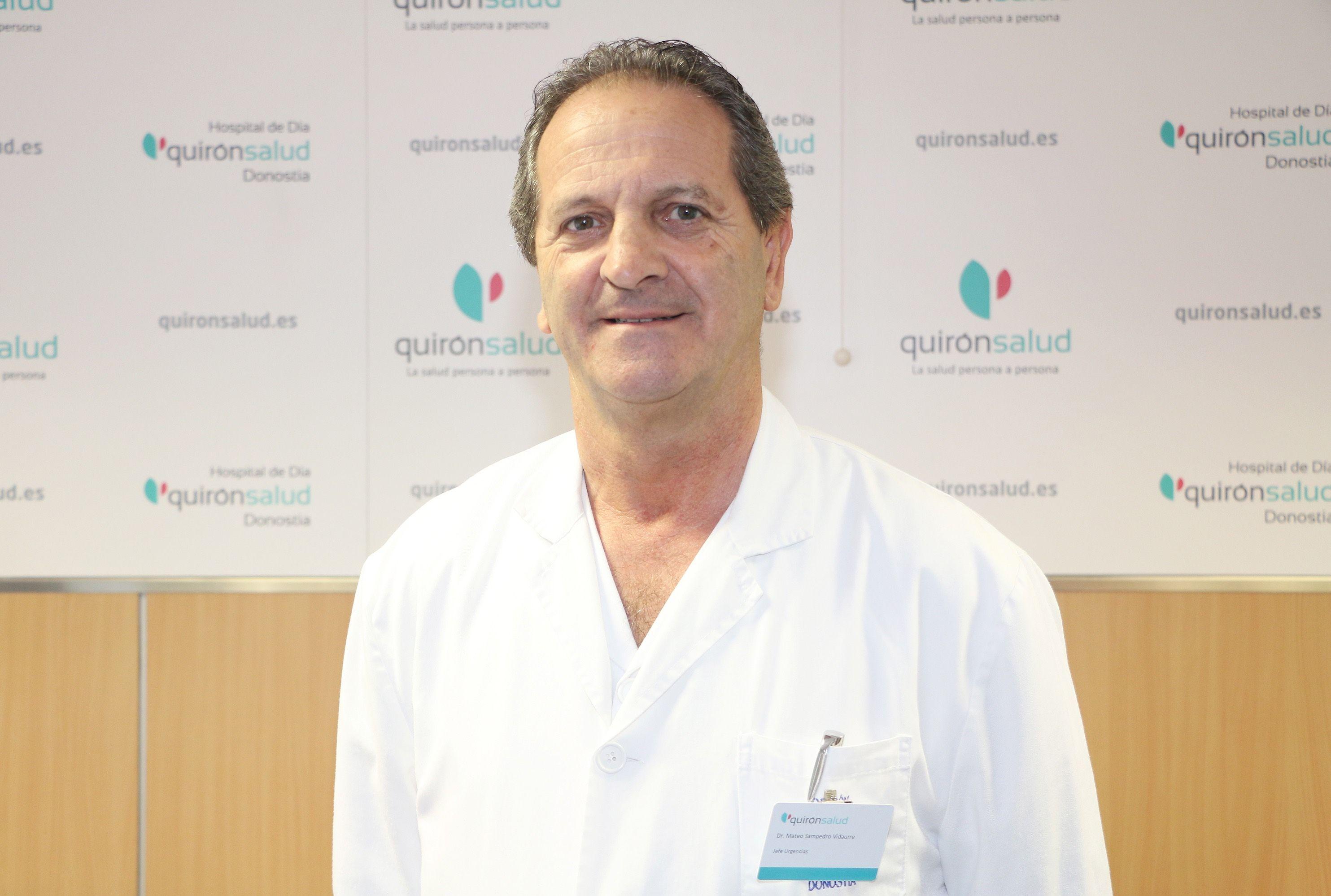 Foto de Mateo Sampedro, jefe del Servicio de Urgencias del Hospital