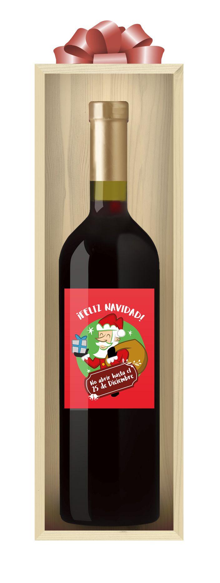 Foto de Vino personalizado Feliz Navidad de Etiqueta tu Vino