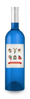 Foto de Vino Azul Hipster Navidad de Etiqueta tu Vino