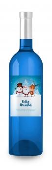 Foto de Vino Azul Navidad de Etiqueta tu Vino