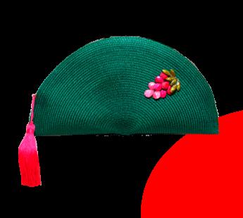 Foto de verde y rosa
