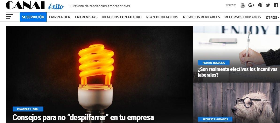 Foto de Canal Éxito, nueva revista on-line de tendencias