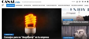 Canal Éxito, nueva revista on-line de tendencias empresariales para a pymes y emprendedores