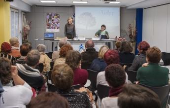 Un momento de la sesión celebrada ayer en el Colegio de Enfermería de Gipuzkoa.