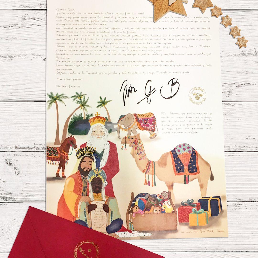 Foto de carta de los Reyes Magos