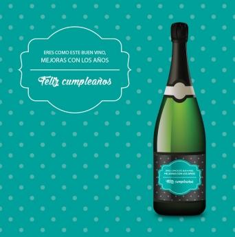 Foto de Regalo Original Cumpleaños de Etiqueta tu Vino