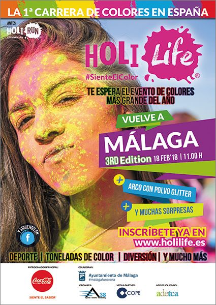 Fotografia Cartel Holi Life Málaga