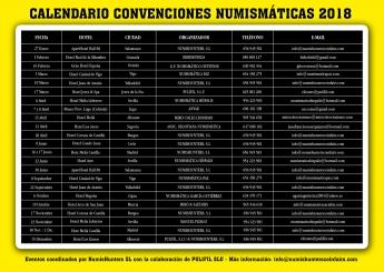 Es presentado el calendario de eventos numismáticos para el año 2018