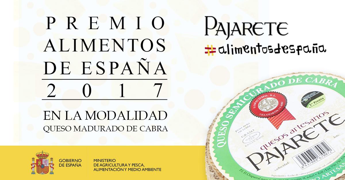 Queso de cabra semicurado Pajarete: entre los mejores quesos de España 2017 - Notas de prensa