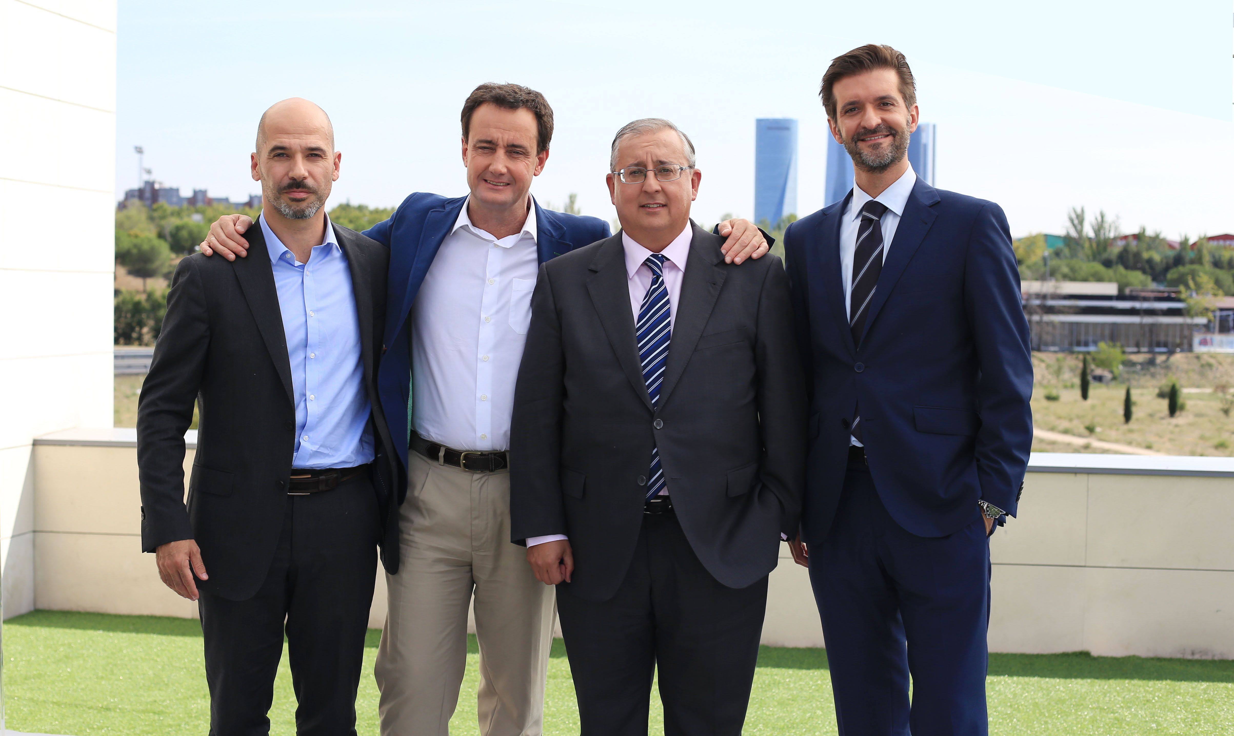 Foto de De izq a dcha Eduard Banqué, Julio Guerrero Zaplana y Luis