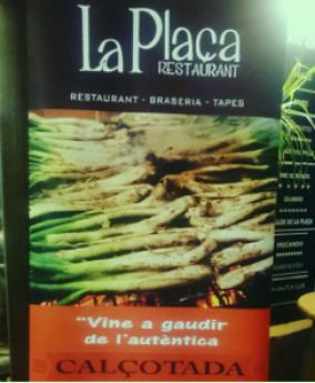 La temporada alta de los 'calçots' ha llegado al 'Restaurant La Plaça'