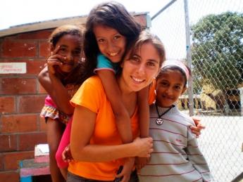 Foto de Voluntaria en Latinoamérica