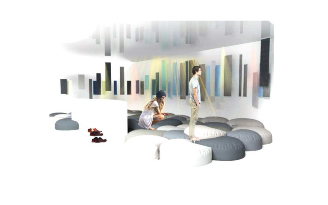 Foto de Boceto de la exposición interactiva Flow