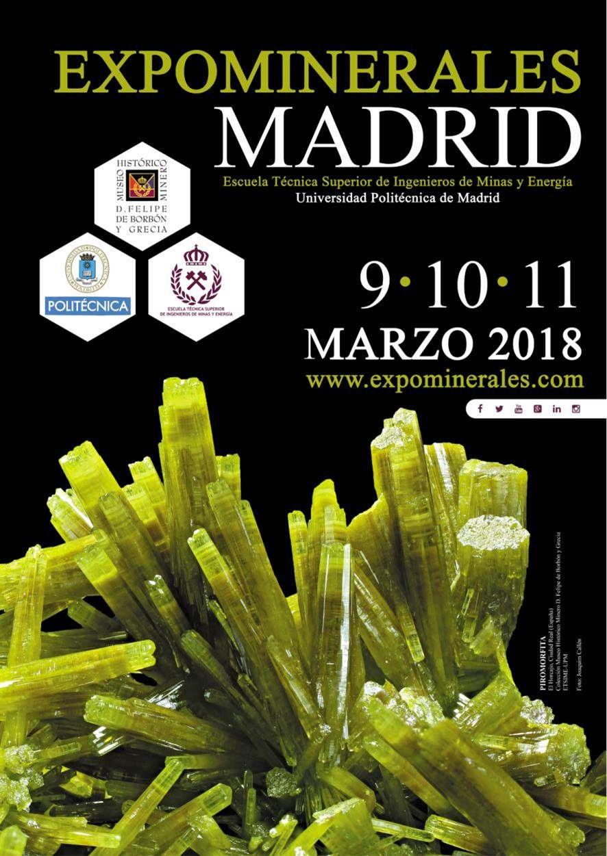 Madrid, cita fundamental para los amantes de las Ciencias de la Tierra durante Expominerales Madrid 2018