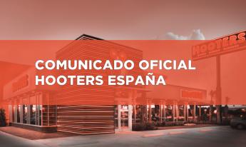 Comunicado oficial Hooters España