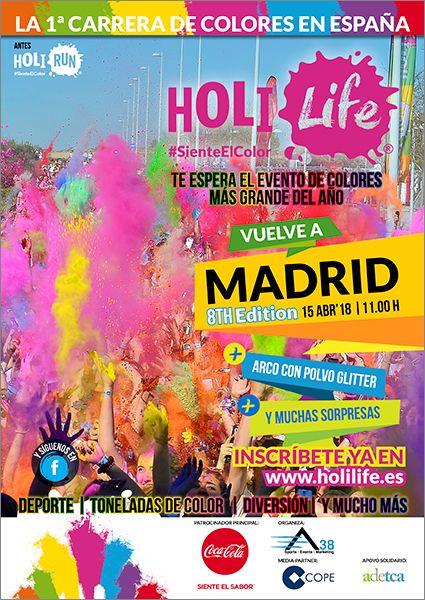 Fotografia Cartel Holi Life Madrid 8th Edition 15-04-18