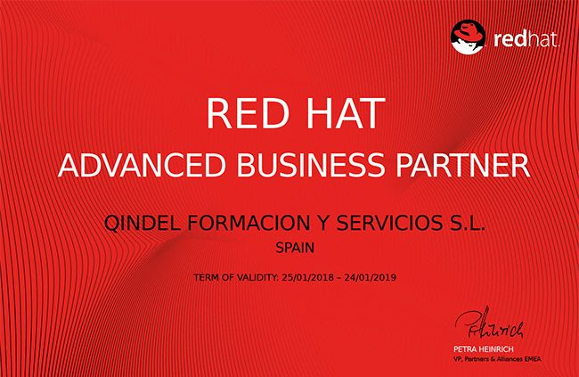 Qindel Group es reconocido como Red Hat Advanced Business Partner