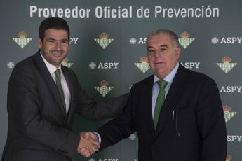 ASPY Prevención renueva su acuerdo con el Real Betis Balompié para los próximos tres años