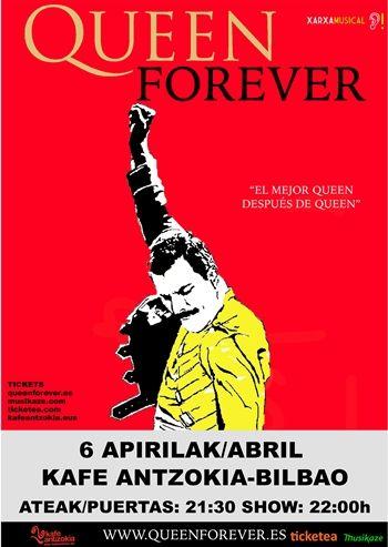 Tributo a Queen en Bilbao, el  6 de abril en Kafe Antzokia