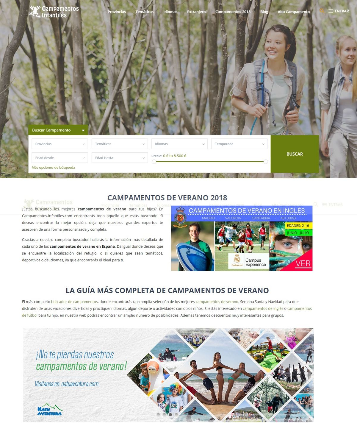 Fotografia Campamentos de Verano en Campamentos-infantiles.com