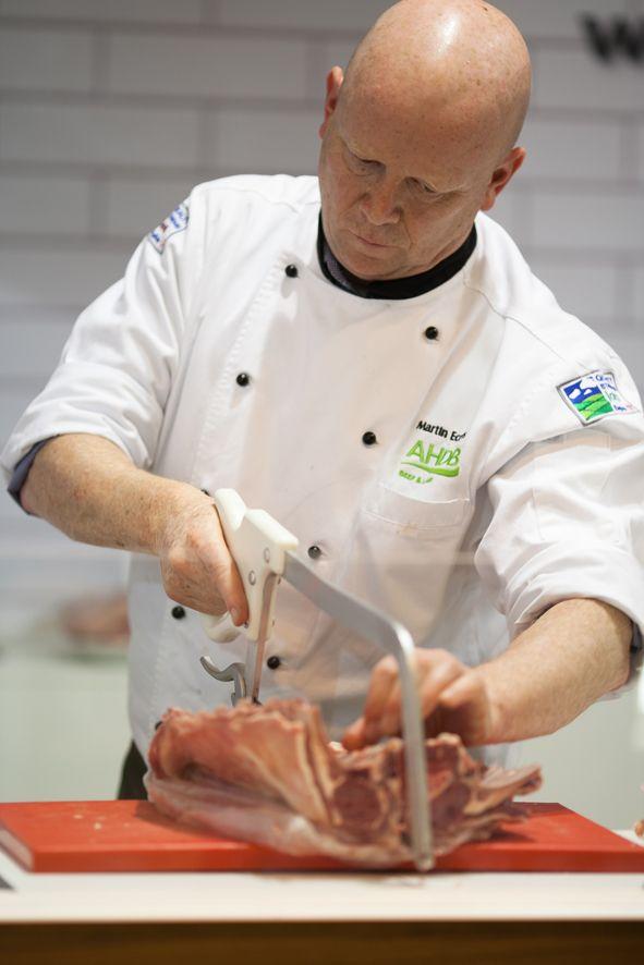 Foto de Martin Eccles, maestro carnicero de AHDB Beef & Lamb