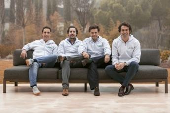 Equipo de ThePowerMBA, de izda a dcha Kike Corral, Hugo Arévalo, Rafa Gozalo y Borja Adanero