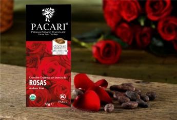 Chocolate con rosas, la opción más romántica de Pacari para Sant Jordi